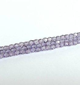 Glasschliffperlen feuerpoliert 4mm, Farbe 86 Viola