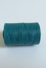 gewachstes Leinengarn 3 ply, Irish Waxed Linen, Farbe 08 teal