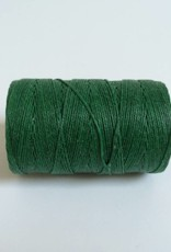 gewachstes Leinengarn 3 ply, Irish Waxed Linen, Farbe 12 green