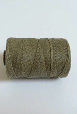 gewachstes Leinengarn 3 ply, Irish Waxed Linen, Farbe 15 olive drab