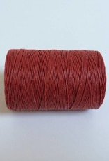 gewachstes Leinengarn 3 ply, Irish Waxed Linen, Farbe 22 country red