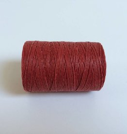 gewachstes Leinengarn 3 ply, Farbe 22 country red
