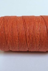 gewachstes Leinengarn 3 ply, Irish Waxed Linen, Farbe 25 orange crush