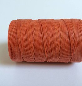 gewachstes Leinengarn 3 ply, Farbe 25 orange crush