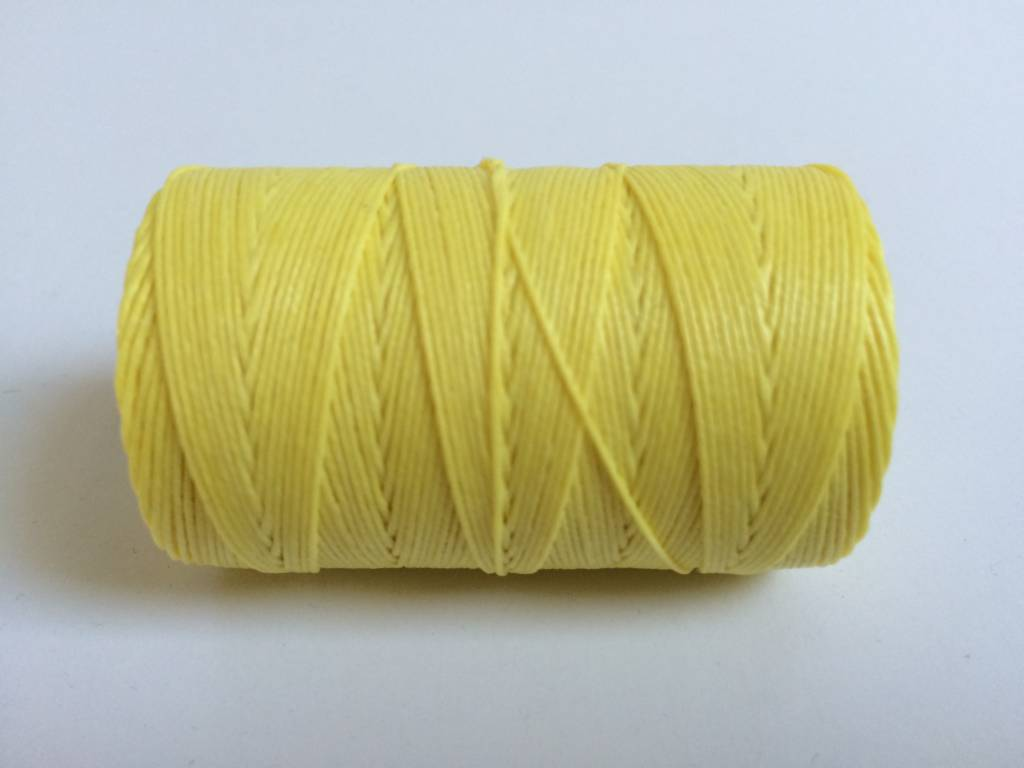gewachstes Leinengarn 3 ply, Irish Waxed Linen, Farbe 29 lemon yellow