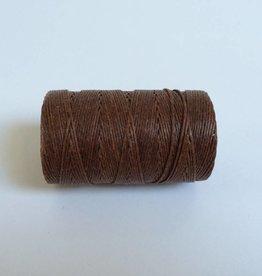 gewachstes Leinengarn 3 ply, Farbe 32 walnut brown