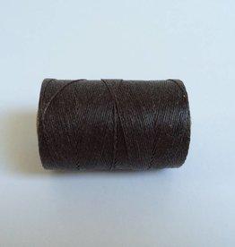 gewachstes Leinengarn 3 ply, Farbe 33 dark chocolate