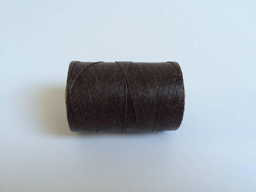 gewachstes Leinengarn 3 ply, Irish Waxed Linen, Farbe 33 dark chocolate