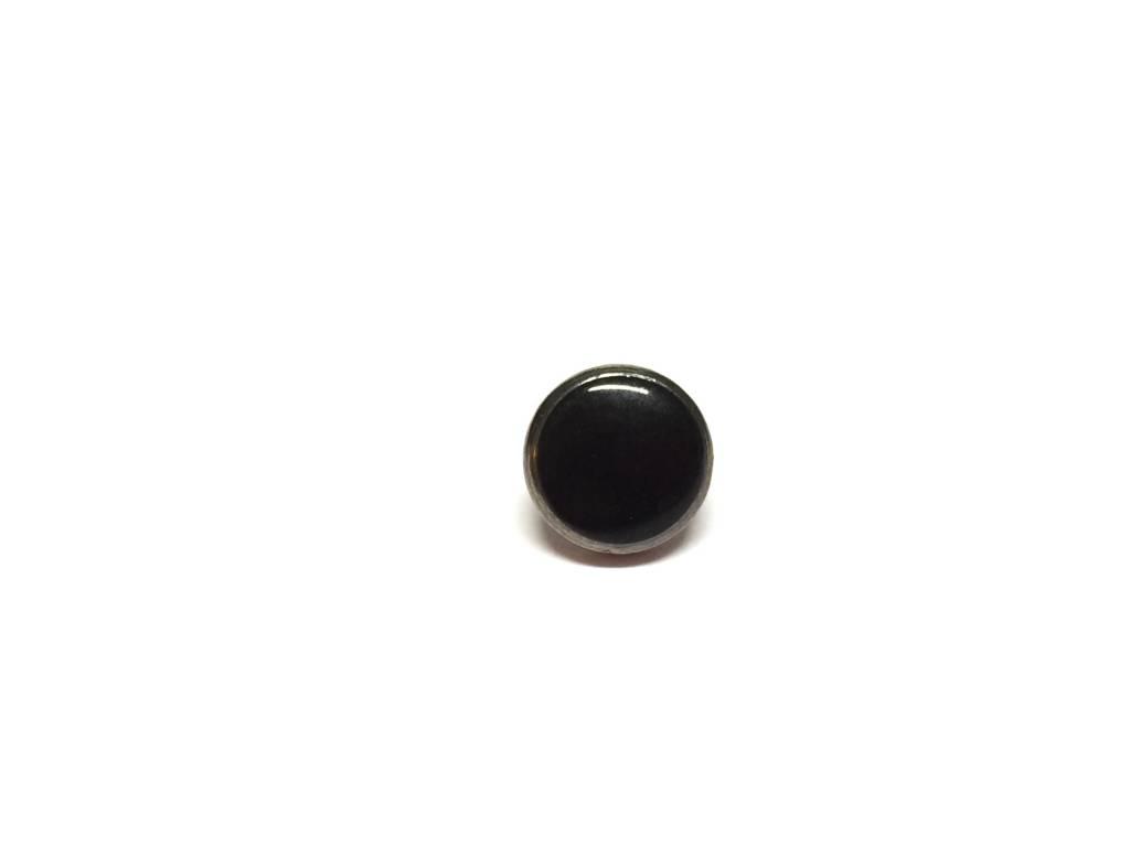"""Metallknopf """"Mini-Black"""", schwarz-silberfarben"""