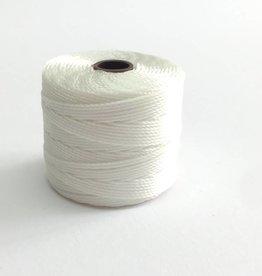 BeadSmith Super-Lon Nylongarn Standard TEX 210, Farbe 07 white