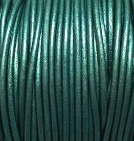 Lederkordel rund Ø 1,5 mm, metallic teal