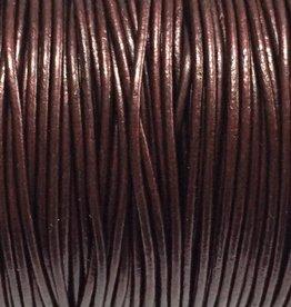 Lederkordel rund Ø 1,5 mm, metallic maroon