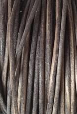 Lederkordel rund Ø 2 mm, natural grey