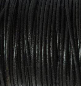 Lederkordel rund Ø 2 mm, natural black