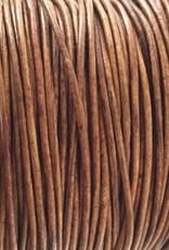 Lederkordel rund Ø 1,5 mm, natural light brown