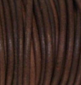 Lederkordel rund Ø 1 mm, natural red brown
