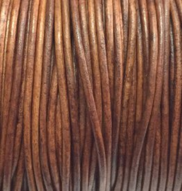 Lederkordel rund Ø 1 mm, natural light brown