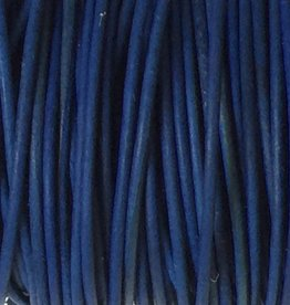 Lederkordel rund Ø 1 mm, natural dye royal blue