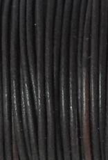 Lederkordel rund Ø 1 mm, natural dark brown