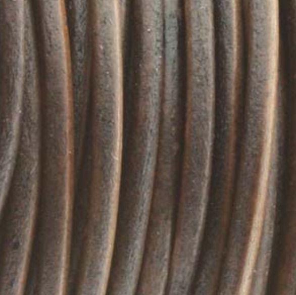 Lederkordel rund Ø 2 mm, natural antique brown