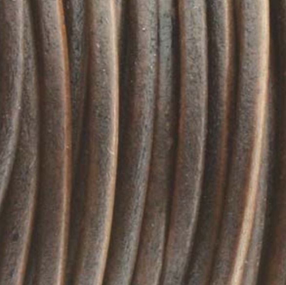 Lederkordel rund Ø 1 mm, natural antique brown