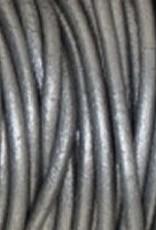 Lederkordel rund Ø 1 mm, metallic grey