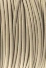 Lederkordel rund Ø 1 mm, beige