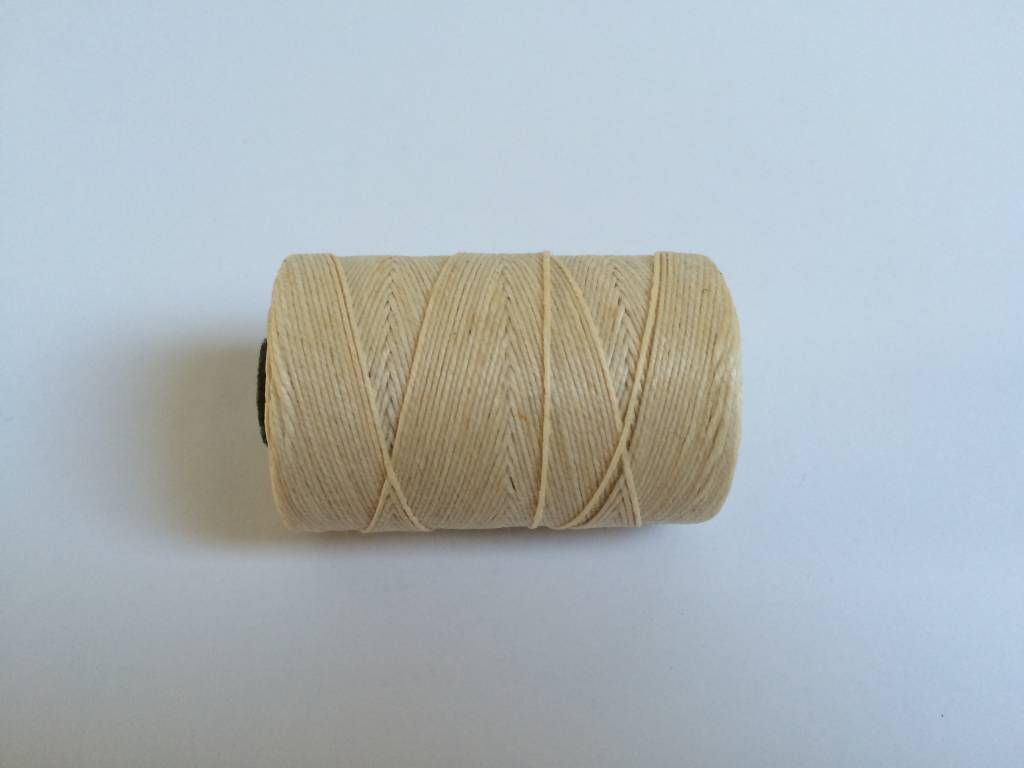 gewachstes Leinengarn 3 ply, Irish Waxed Linen, Farbe 02 natural