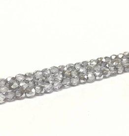 Glasschliffperlen feuerpoliert 4mm, Farbe 89 Lila Grey Ice