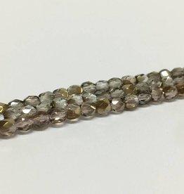 Glasschliffperlen feuerpoliert 4mm, Farbe 611 Crystal Bronze