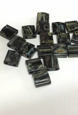 Miyuki Tila Beads, Farbe Picasso Smokey Black Matte