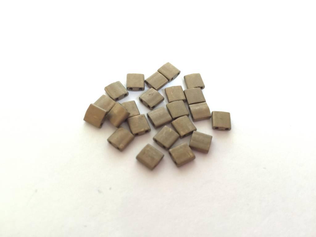 Miyuki Tila Beads, Farbe Matte Met Gold