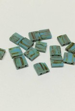 Miyuki Tila Beads, Farbe Picasso Seafoam Green Matte
