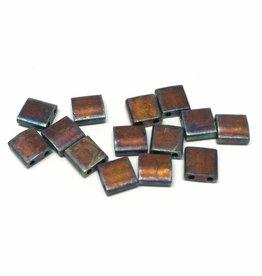 Miyuki Tila Beads, Farbe Matte Metallic Copper