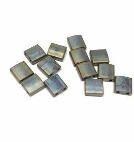 Miyuki Tila Beads, Farbe Matte Metallic Silver Grey