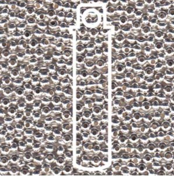 Metallperlen 11/0 - Heavy Metal Seed Beads - silver sterling plated