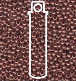 Metallperlen 11/0 - Heavy Metal Seed Beads - Copper matte