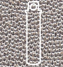 Metallperlen 8/0 - Heavy Metal Seed Beads - silver plated