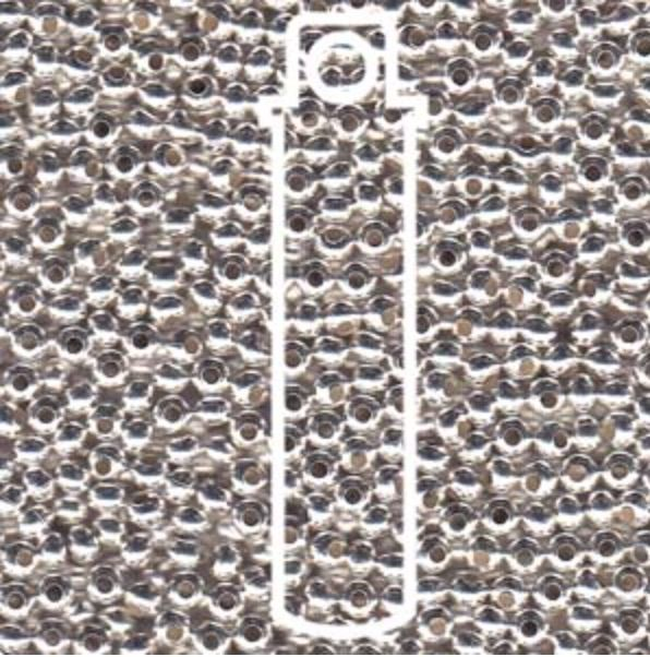 Metallperlen 8/0 - Heavy Metal Seed Beads - silver sterling plated