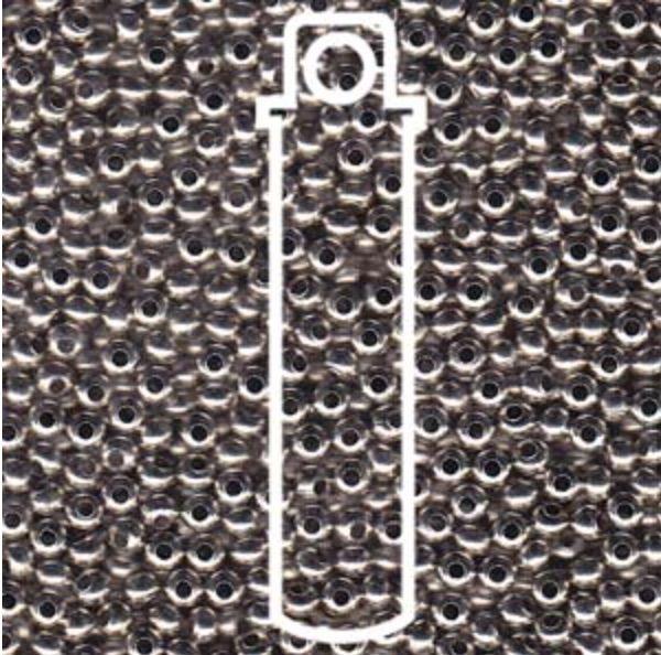 Metallperlen 8/0 - Heavy Metal Seed Beads - nickel plated