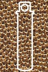 Metallperlen 8/0 - Heavy Metal Seed Beads - 24kt gold plated