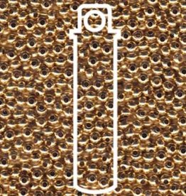Metallperlen 8/0 - Heavy Metal Seed Beads - 24kt gold plated