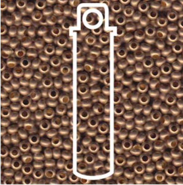 Metallperlen 8/0 - Heavy Metal Seed Beads - gilding matte