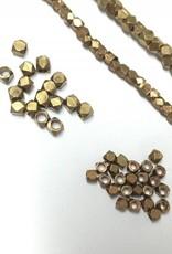Metallwürfel - Cornerless Cubes 2,5 mm, brass