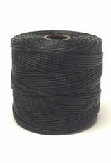 BeadSmith Super-Lon Nylongarn Standard TEX 210, Farbe 04 black