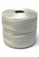 BeadSmith Super-Lon Nylongarn Standard TEX 210, Farbe 09 oyster (light grey)