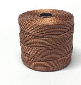 BeadSmith Super-Lon Nylongarn Standard TEX 210, Farbe 19 copper