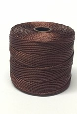 BeadSmith Super-Lon Nylongarn Standard TEX 210, Farbe 20 brown