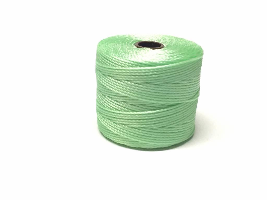 BeadSmith Super-Lon Nylongarn Standard TEX 210, Farbe 31 pastel mint