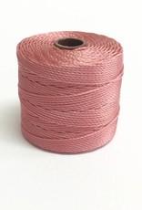 BeadSmith Super-Lon Nylongarn Standard TEX 210, Farbe 58 rose
